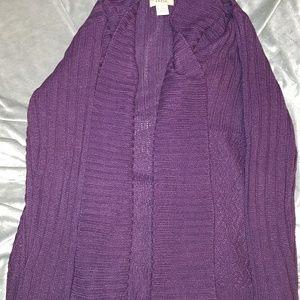 Women's purple open cardigan L